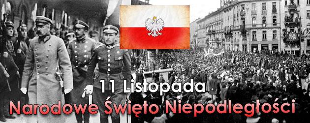 11 listopada – Narodowe Święto Niepodległości.