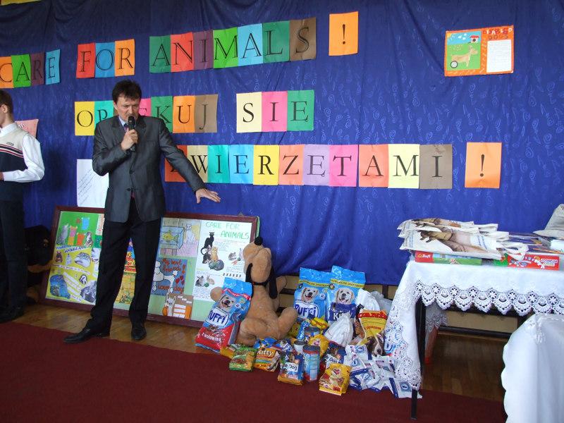 Podsumowanie III edycji międzyszkolnego konkursu 'Care for animals'.