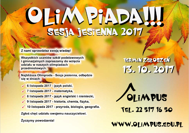 Olimpus sesja jesienna – język angielski!