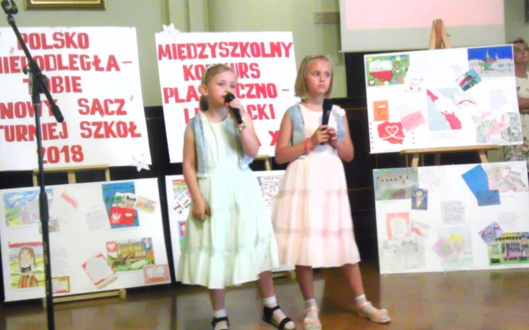 """Międzyszkolny Konkurs Literacko – Plastyczny """"Polsko Niepodległa – Tobie Nowy Sącz"""" Turniej Szkół – 2018"""